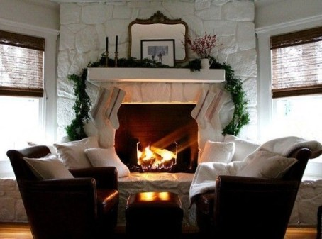 Winter Fireplace Decoration Ideas 02