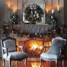 Winter Fireplace Decoration Ideas 09