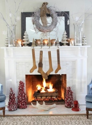 Winter Fireplace Decoration Ideas 17
