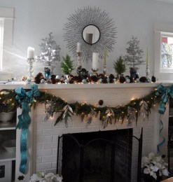 Winter Fireplace Decoration Ideas 27