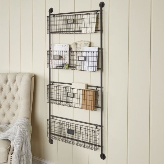 Wire Basket Ideas You Can Make For Storage 26