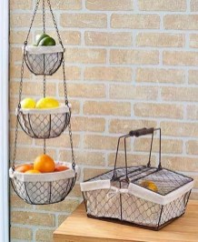 Wire Basket Ideas You Can Make For Storage 54
