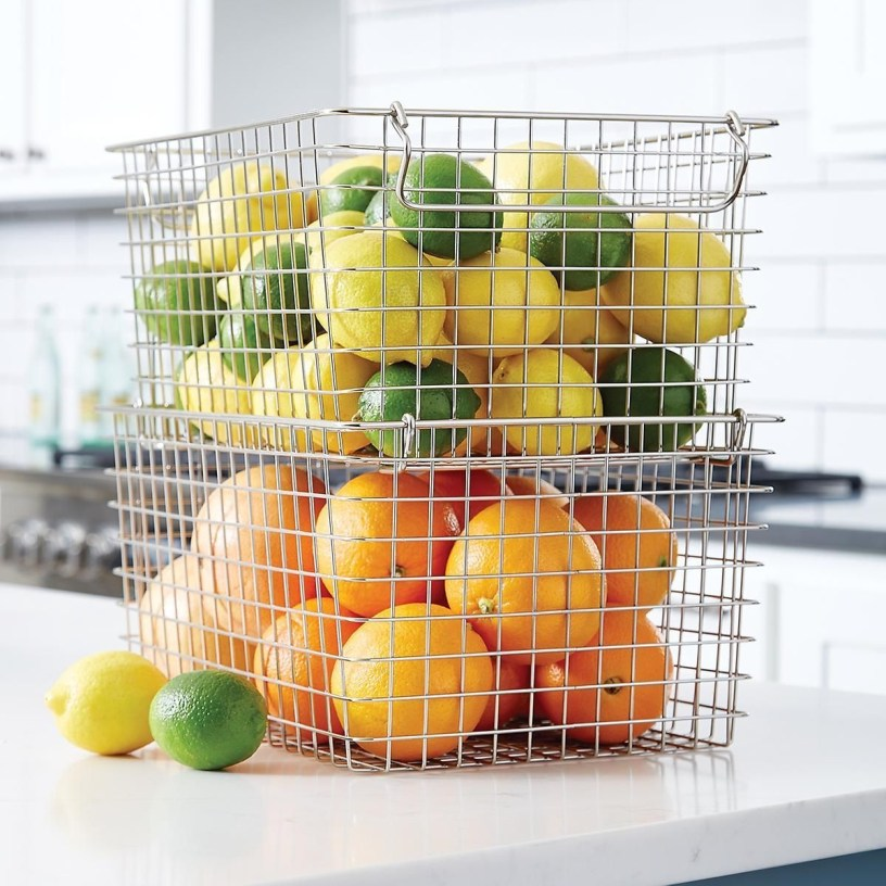Wire Basket Ideas You Can Make For Storage 60