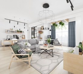 Awesome Scandinavian Style Interior Apartment Decoration 01