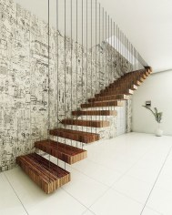 Best And Elegant Wooden Stairs In Your House 04