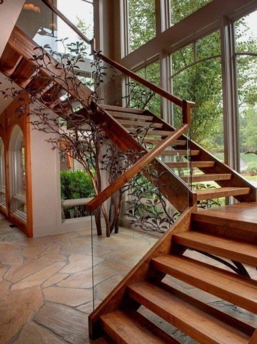 Best And Elegant Wooden Stairs In Your House 30