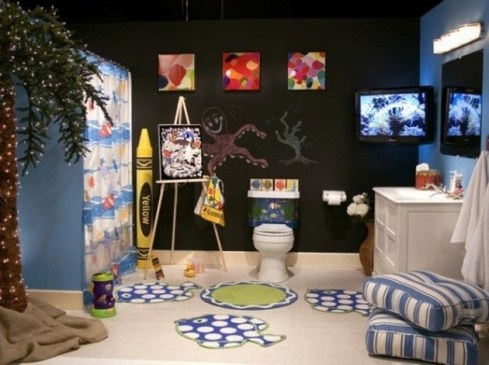 Stunning Colorful Bathroom Decoration For Your Kids 20