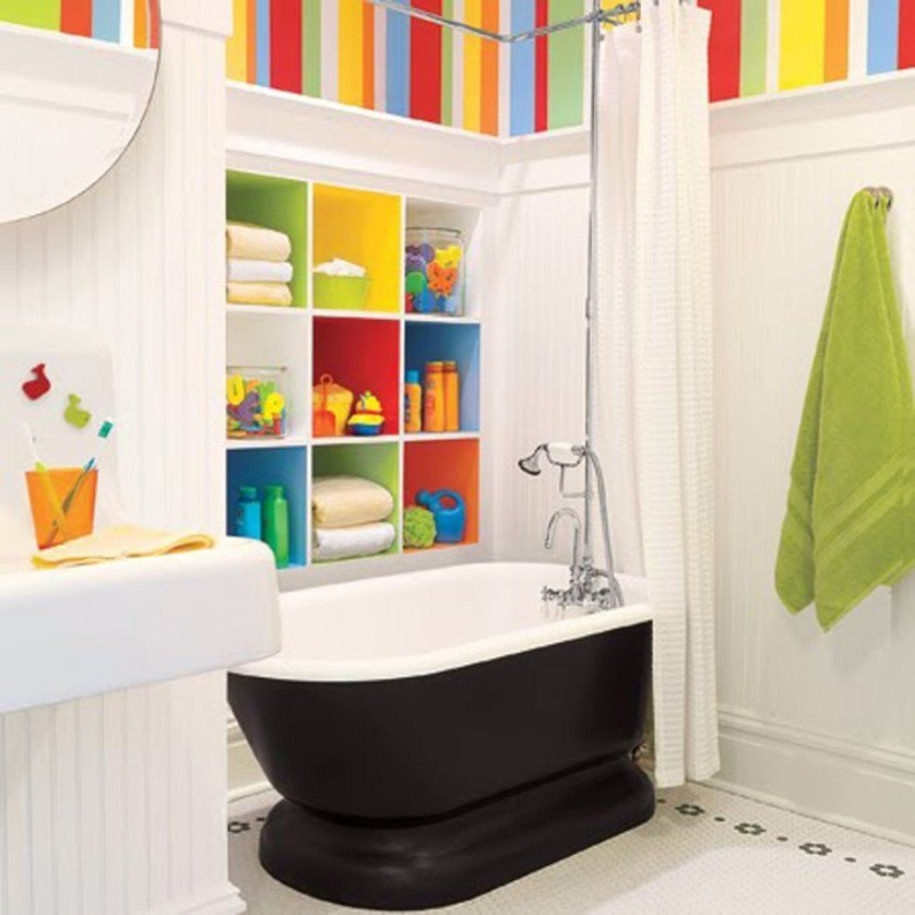 Stunning Colorful Bathroom Decoration For Your Kids 21