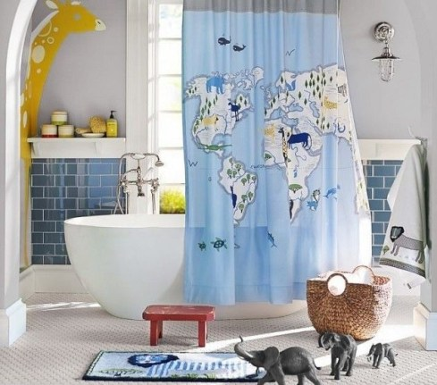 Stunning Colorful Bathroom Decoration For Your Kids 36