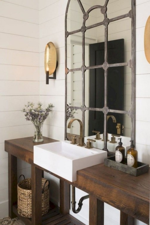 Vintage Farmhouse Bathroom Decor You Will Try 31