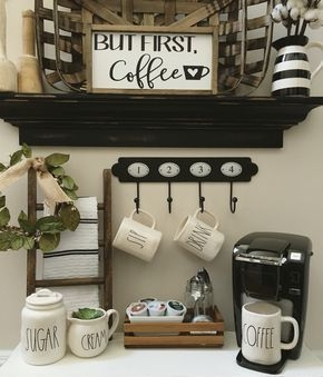 Amazing Diy Coffee Station Idea In Your Kitchen 07