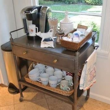 Amazing Diy Coffee Station Idea In Your Kitchen 24