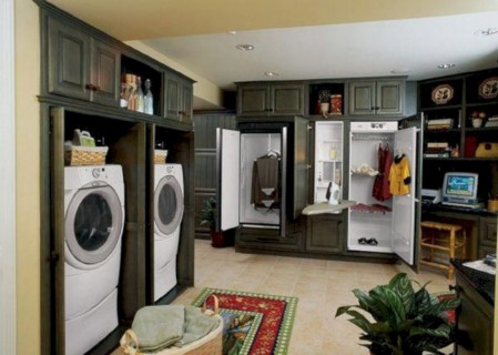 Contemporary Laundry Room Decor Ideas You Can Try For Your House 37