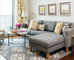 Cozy And Simple Rug Idea For Small Living Room 01
