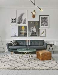 Cozy And Simple Rug Idea For Small Living Room 13