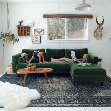 Cozy And Simple Rug Idea For Small Living Room 17