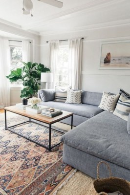 Cozy And Simple Rug Idea For Small Living Room 36