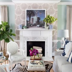 Spring Mantel Decorating Ideas For Fireplace In Living Room 11