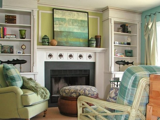 Spring Mantel Decorating Ideas For Fireplace In Living Room 25