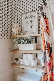 DIY Floating Shelves Bathroom Decor You Must Have 08