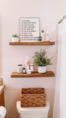 DIY Floating Shelves Bathroom Decor You Must Have 18
