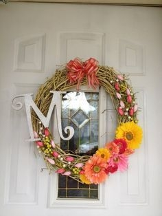 DIY Simple Spring Wreath For Your Door 14