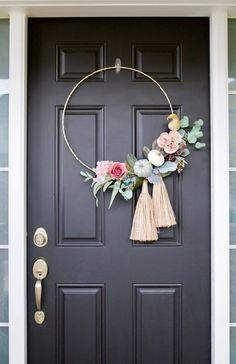 DIY Simple Spring Wreath For Your Door 34
