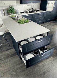 Great Inspiring Modern Kitchen Decoration You'll Love 03