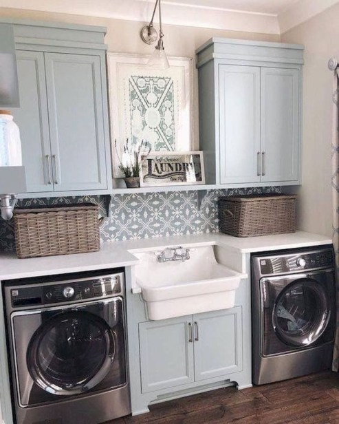 Ways To Make Small Laundry Room To Look Big Space 05
