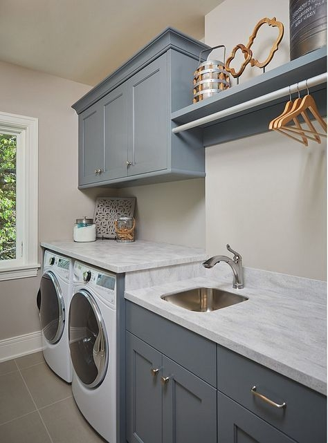 Ways To Make Small Laundry Room To Look Big Space 07