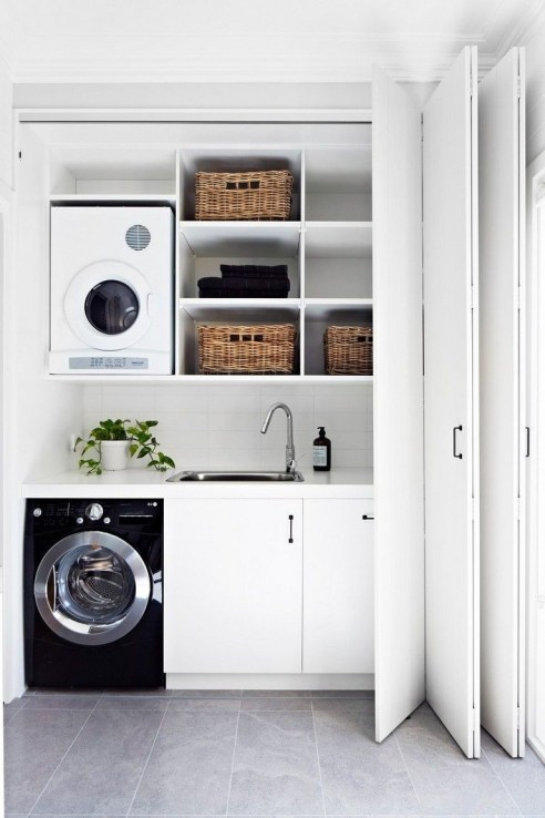 Ways To Make Small Laundry Room To Look Big Space 10
