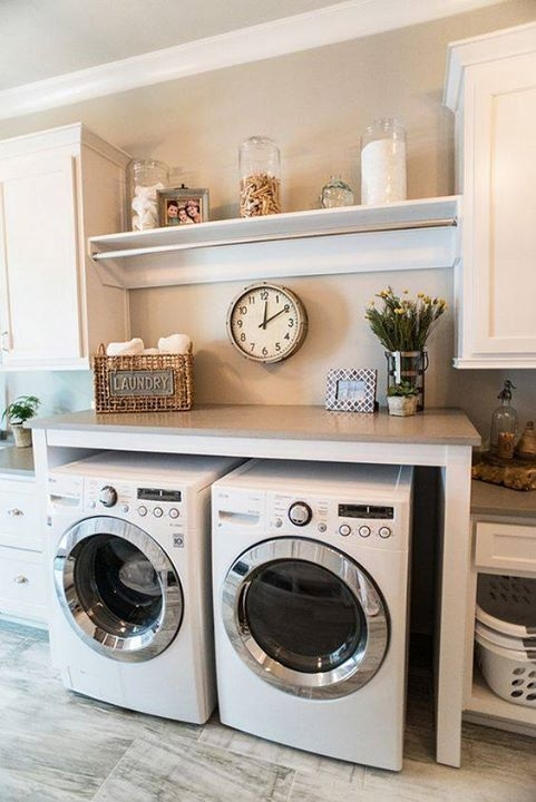 Ways To Make Small Laundry Room To Look Big Space 29