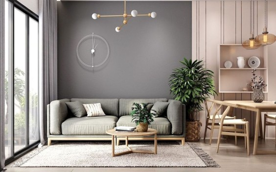 Amazing Small Living Room Decor Idea For Your First Apartment 21