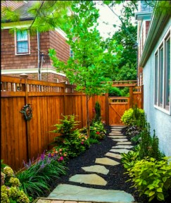 Fresh And Beautiful Side Yard Decoration You Must Have 10