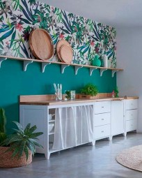 The Beautiful Botanical Wallpapers For Your Outdoor Kitchen Wall 04