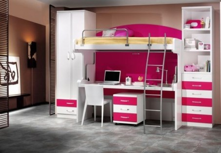 Amazing Double Bed For Teen College Bedroom 09