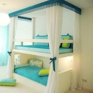 Amazing Double Bed For Teen College Bedroom 27
