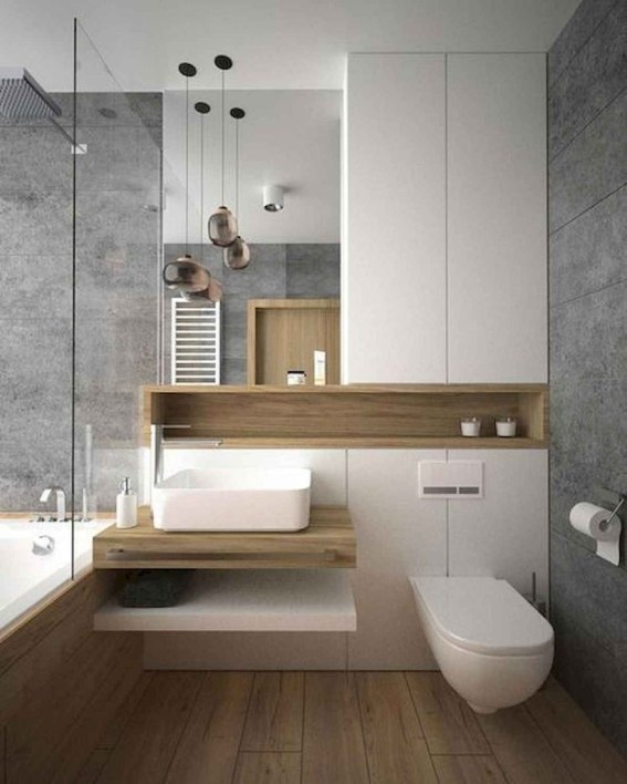 Gorgeous Small Master Bathroom Remodel Ideas 30