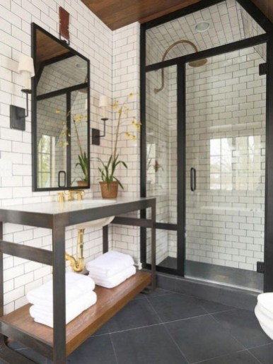 Industrial Farmhouse Bathroom Reveal 29