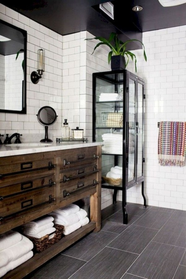 Industrial Farmhouse Bathroom Reveal 37