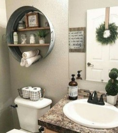 Amazing Farmhouse Bathroom Decor For Small Space 30
