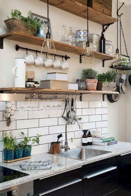 Amazing Modern Farmhouse Kitchen Decoration For Small Space 20