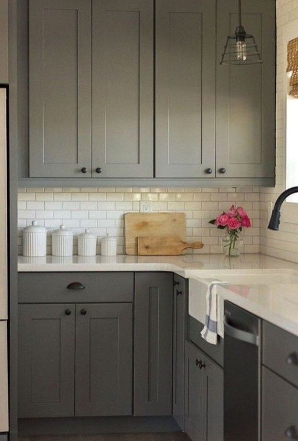 Amazing Modern Farmhouse Kitchen Decoration For Small Space 34