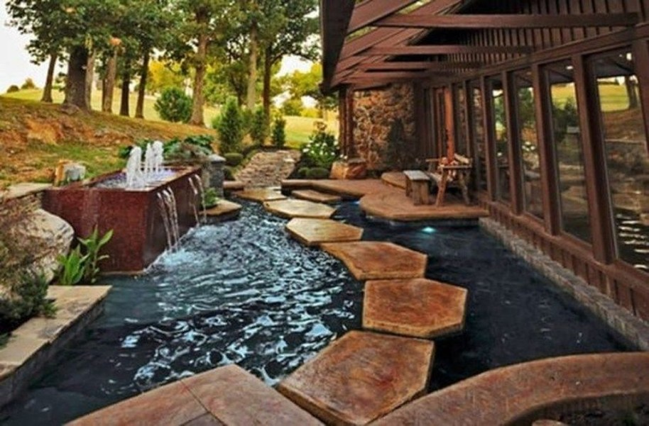 Awesome DIY Ponds Ideas With Small Waterfall 08