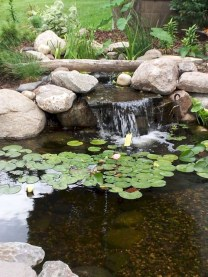 Awesome DIY Ponds Ideas With Small Waterfall 11