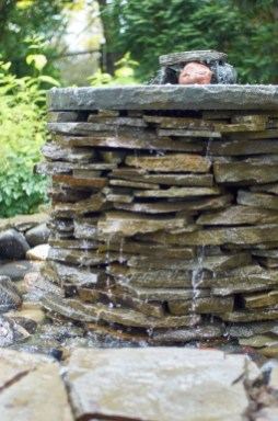 Awesome DIY Ponds Ideas With Small Waterfall 15