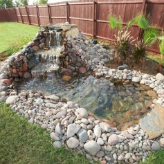 Awesome DIY Ponds Ideas With Small Waterfall 18