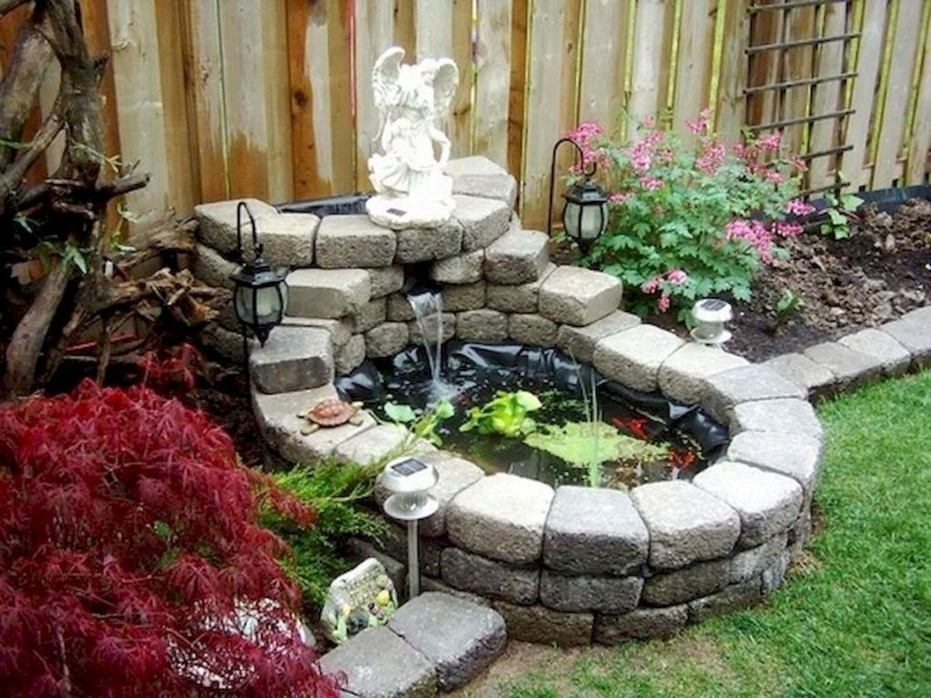 Awesome DIY Ponds Ideas With Small Waterfall 37