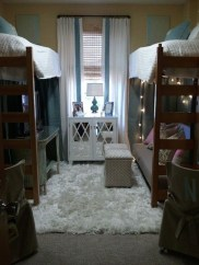 Awesome Dorm Room Decoration With Double Bed 25