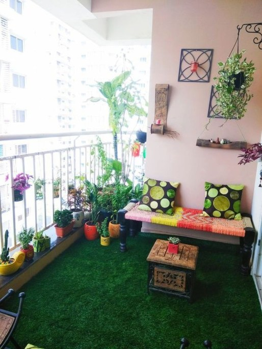 Cozy Garden Balcony Design And Inspiration 03